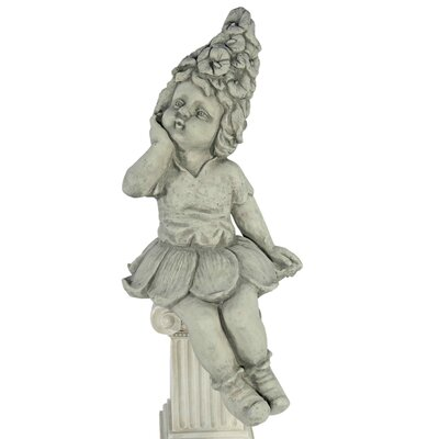 House Additions Elf Sitting on the Edge with Right Hand on Cheek Decorative Figure