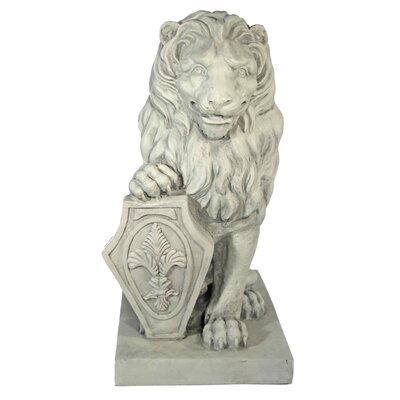 House Additions Decorative Lion with Sign Figure