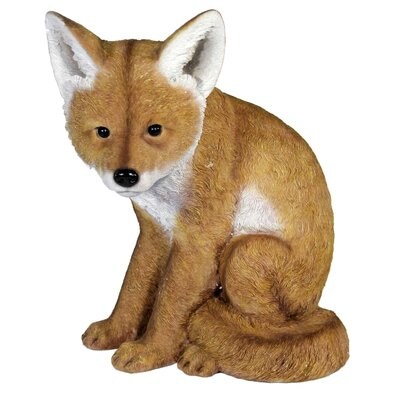 House Additions Sitting Fox Decorative Figure