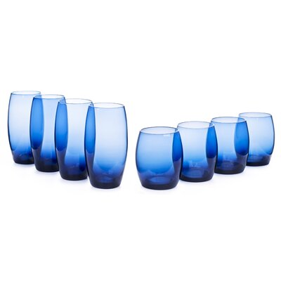 House Additions Glass Set in Blue