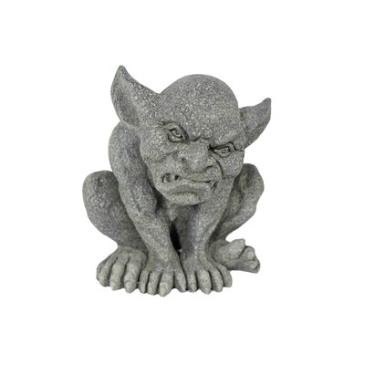 House Additions Crouching Gargoyle on Hands Decorative Figure