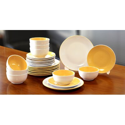House Additions 24-Piece Dinnerware Set
