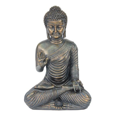 House Additions Meditating Buddha in the Lotus Position Decorative Figure