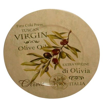 House Additions Olive Decorative Plate