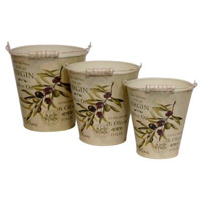 House Additions Olive 3-Piece Oval Flower Pot Set