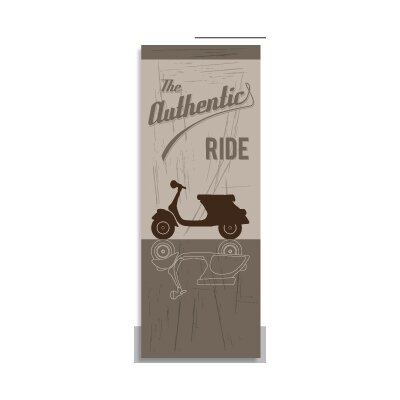 House Additions Vintage Scoot 2.5m L x 95cm W Roll Wallpaper