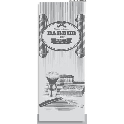 House Additions Vintage Barber 2.5m L x 95cm W Roll Wallpaper