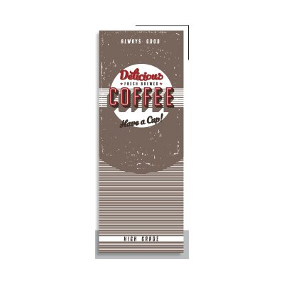 House Additions Vintage Coffee 2.5m L x 95cm W Roll Wallpaper
