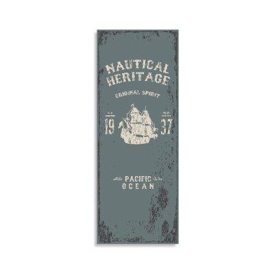 House Additions Vintage Nautic 2.5m L x 95cm W Roll Wallpaper