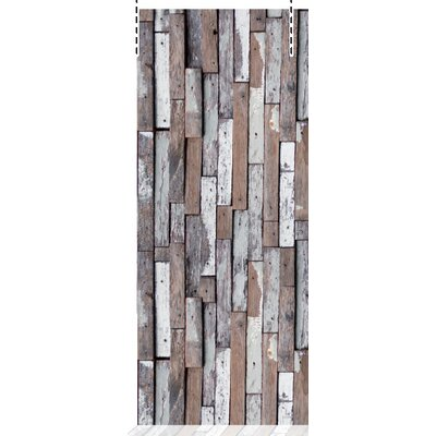 House Additions Multi Strips Scrapwood 2.5m L x 95cm W Roll Wallpaper