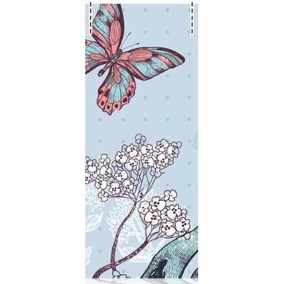 House Additions Multi Strips Faune and Flore 2.5m L x 95cm W Roll Wallpaper