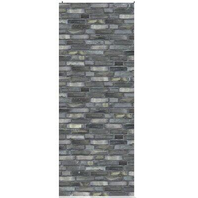 House Additions Multi Strips Brics 2.5m L x 95cm W Roll Wallpaper