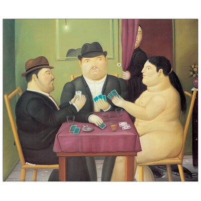 House Additions 'I Giocatori Di Carte' by Botero Art Print Plaque