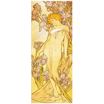 """House Additions """"Iris"""" by Mucha Art Print Plaque"""