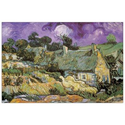 House Additions 'Chaumes de Cordeville à Auvers-Sur-Oise' by Van Gogh Art Print Plaque