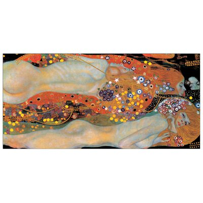 House Additions 'Wasserschlangen' by Klimt Art Print Plaque