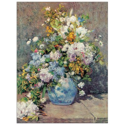House Additions 'Spring Flowers' by Renoir Art Print Plaque