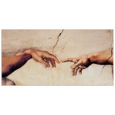 House Additions 'La Creazione di Adamo' by Michelangelo Art Print Plaque