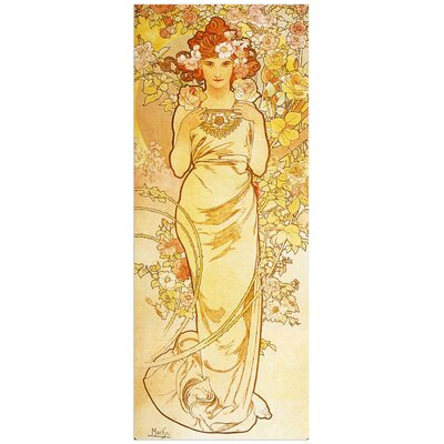 """House Additions """"Rose"""" by Mucha  Art Print Plaque"""