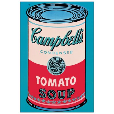 House Additions 'Campbell Soup Can 1965' by Warhol Vintage Advertisement Plaque in Blue