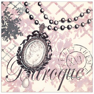 "House Additions ""Baroque Bling"" by Barrett Graphic Art Plaque"