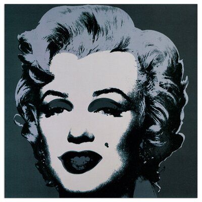 House Additions 'Marilyn Monroe' by Warhol  Graphic Art Plaque in Black