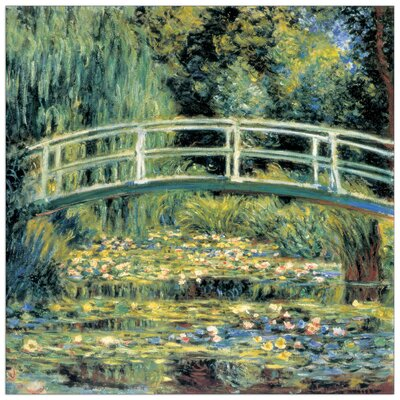 House Additions 'Le Pont Japonais Detail' by Monet Art Print Plaque