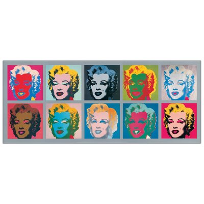 House Additions 'Ten Marilyns, 1967' by Warhol Graphic Art Plaque