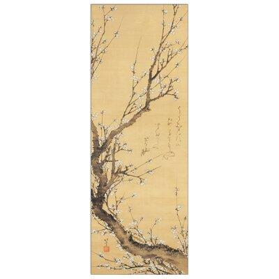 "House Additions ""Tronco Di Susino in Fiore"" by Hokusai Art Print Plaque"