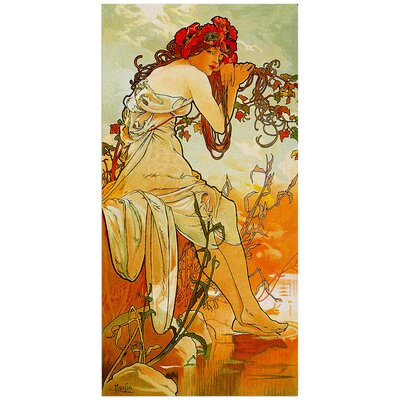 """House Additions """"Summer"""" by Mucha Art Print Plaque"""