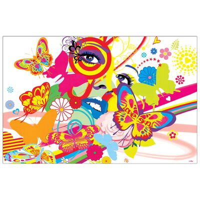 House Additions 'Rainbow Face' by Reilly  Graphic Art Plaque
