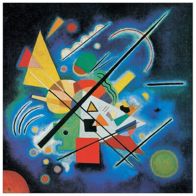 House Additions 'Dipinti in Blu, 1924' by Kandinsky Art Print Plaque