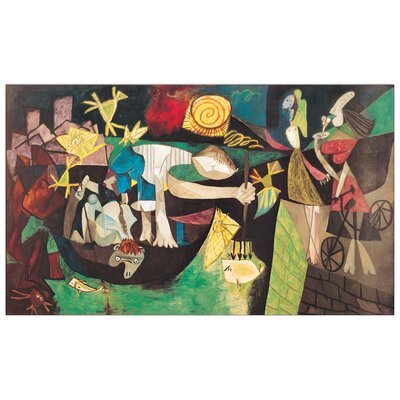 """House Additions """"Night fishing at Antibes"""" by Picasso Art Print Plaque"""