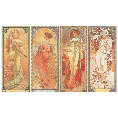 House Additions 'Les Saisons, 1900' by Mucha Art Print Plaque