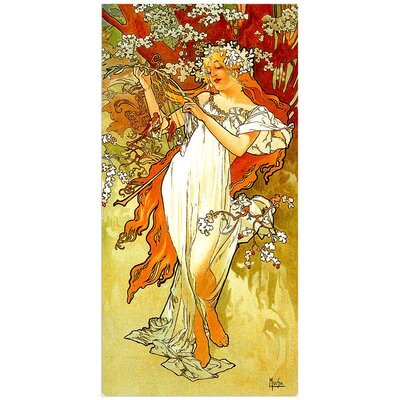 """House Additions """"Spring"""" by Mucha Art Print Plaque"""