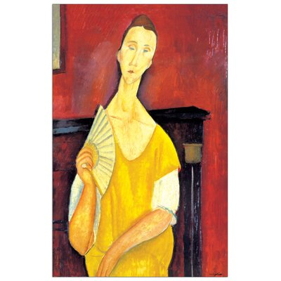 House Additions 'Woman with a Fan' by Modigliani Art Print Plaque