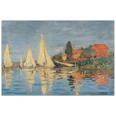 House Additions 'Regata at Bargenteuil' by Monet Art Print Plaque