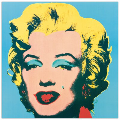 House Additions 'Marilyn, 1967' by Warhol Graphic Art Plaque in Blue