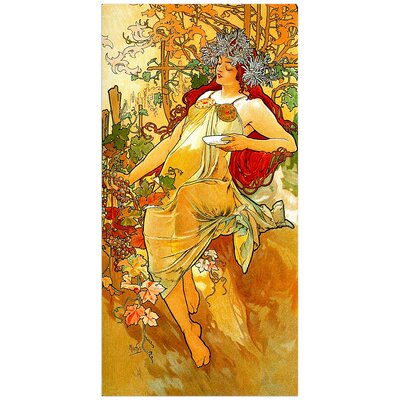 """House Additions """"Autumn"""" by Mucha Art Print Plaque"""