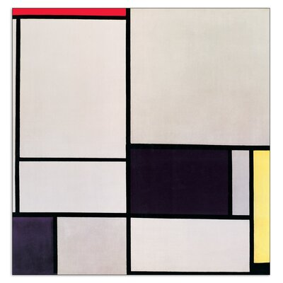 House Additions 'Composizione NR 2' by Mondrian Graphic Art Plaque