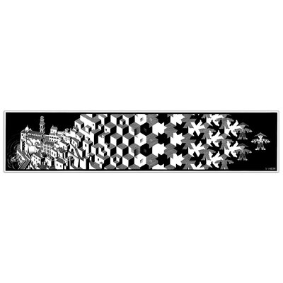 """House Additions """"Metamorphosis I"""" by Escher Graphic Art Plaque"""