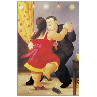 "House Additions ""Dancers"" by Botero Art Print Plaque"