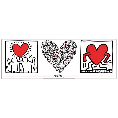 House Additions 'Untitled' by Haring Graphic Art Plaque