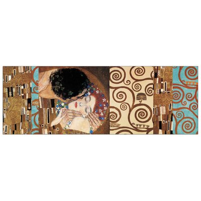 House Additions Klimt II 150° Anniversary (The Kiss) Graphic Art Plaque