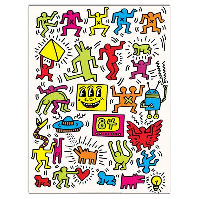 House Additions 'Untitled 1984' by Haring Graphic Art Plaque