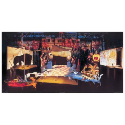 House Additions 'Opera 1' by Dali Art Print Plaque