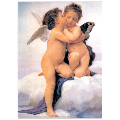 "House Additions ""The First Kiss"" by Bouguereau Art Print Plaque"