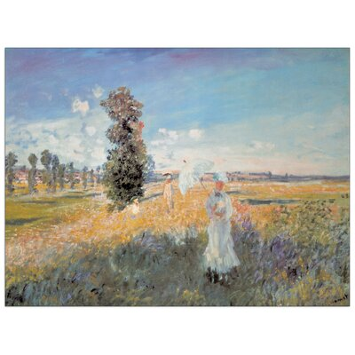 House Additions 'Felder in Fruhling' by Monet Art Print Plaque