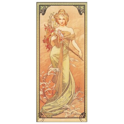 House Additions 'Printemps,1900' by Mucha Art Print Plaque