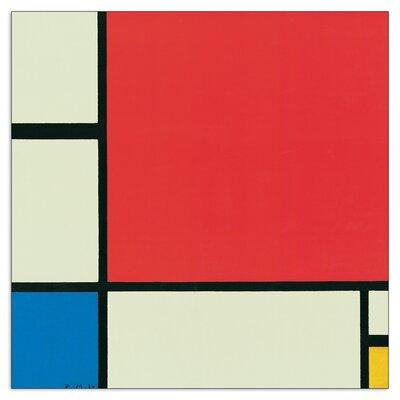 House Additions 'Composizione in Rosso, Blu E Giallo' by Mondrian Graphic Art Plaque